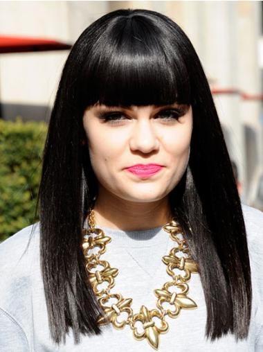 Black With Bangs Straight Sassy Jessie J wigs