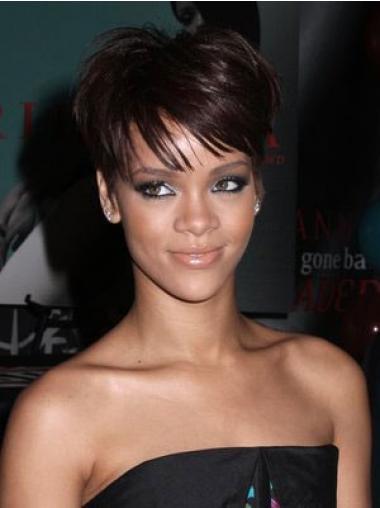Auburn Boycuts Straight Sassy Rihanna wigs