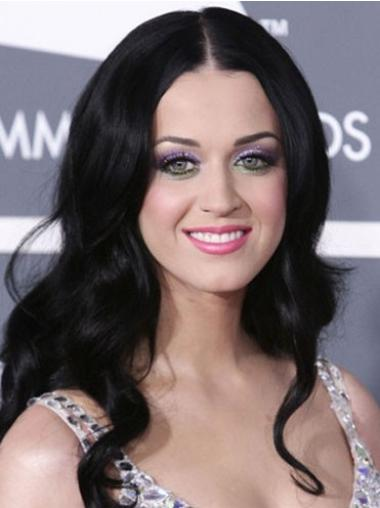 Black Without Bangs Wavy Perfect Katy Perry wigs