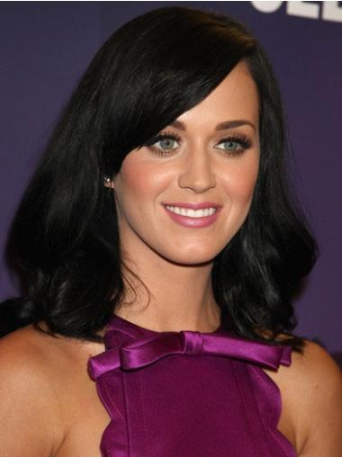 Straight Black With Bangs Beautiful Katy Perry wigs