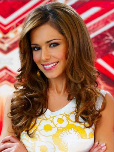 Layered Brown Curly Affordable Cheryl Cole wigs