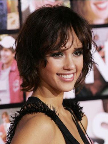 Brown Layered Wavy Hairstyles Jessica Alba wigs