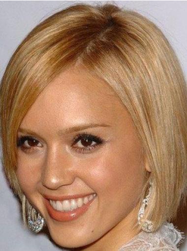 Bobs Blonde Straight High Quality Jessica Alba wigs