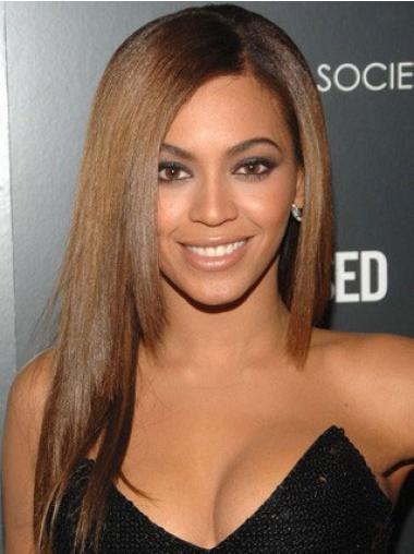 Brown Indian Remy Hair Straight Flexibility Beyonce wigs