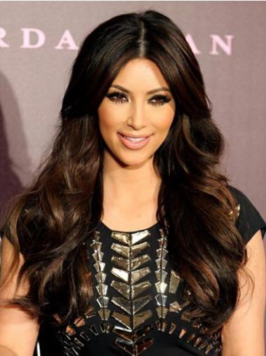 Black Synthetic Wavy Comfortable Long Wigs