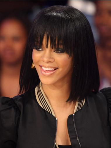 Bobs Black Straight Cheap Rihanna wigs