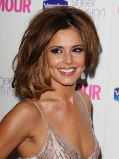 Wavy Brown Layered Comfortable Cheryl Cole wigs