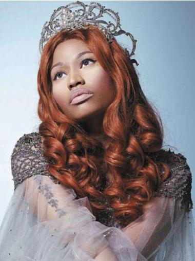 Auburn Without Bangs Curly Fashionable Nicki Minaj wigs