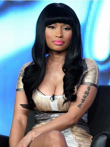Black With Bangs Wavy Modern Nicki Minaj wigs