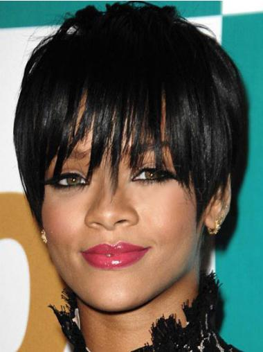 Black Boycuts Straight High Quality Rihanna wigs