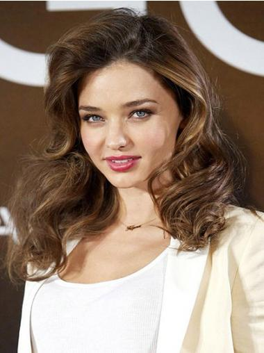 Brown Lace Front Wavy Soft Celebrity Wigs
