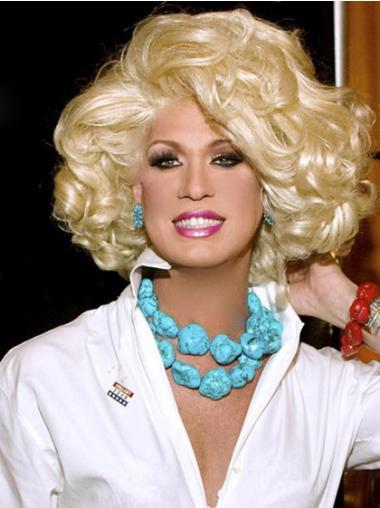 Blonde Classic Curly Gorgeous Kim Zolciak wigs
