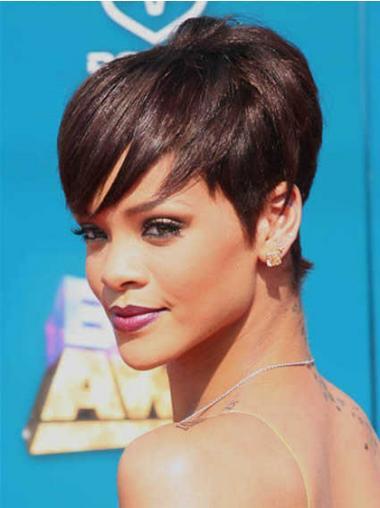 Boycuts Auburn Straight Comfortable Rihanna wigs