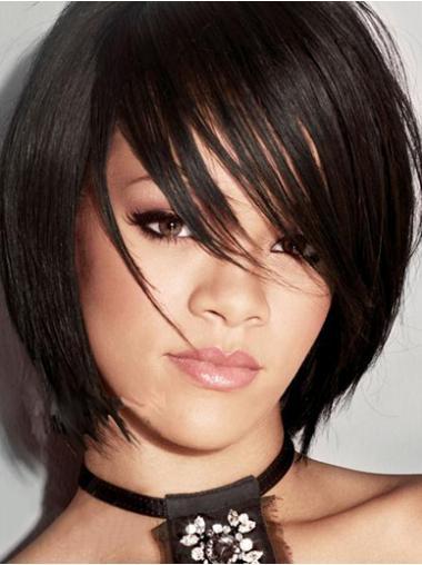 Black Bobs Straight Flexibility Rihanna wigs