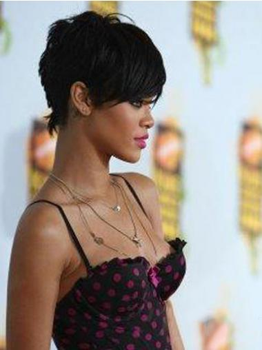 Straight Boycuts Black Great Rihanna wigs