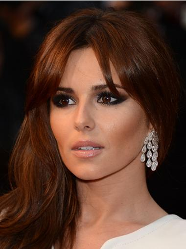Auburn With Bangs Wavy Ideal Cheryl Cole wigs