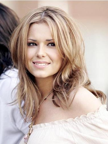 Straight Blonde Layered Cheap Cheryl Cole wigs