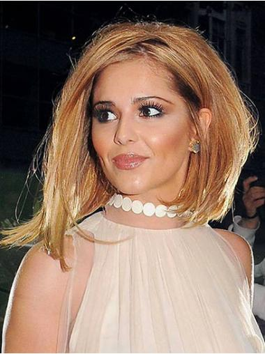 Auburn Without Bangs Straight Natural Cheryl Cole wigs