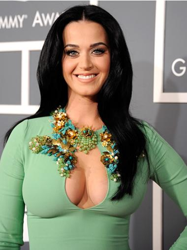 Straight Black Without Bangs New Katy Perry wigs
