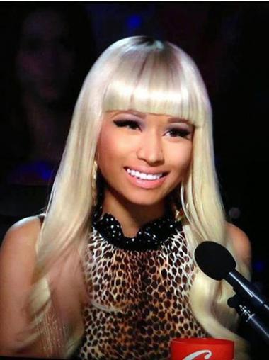 Blonde With Bangs Wavy Incredible Nicki Minaj wigs
