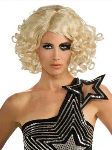 Blonde Bobs Curly Style Lady Gaga wigs