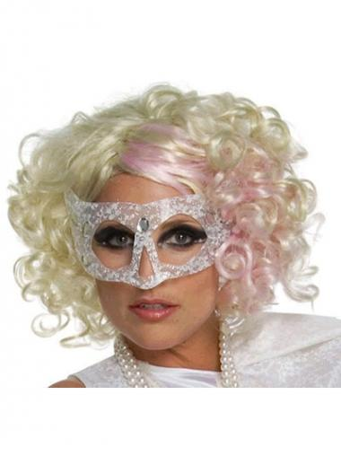 Blonde Lace Front Curly Beautiful Lady Gaga wigs