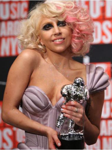 Blonde Wavy Layered Hairstyles Lady Gaga wigs