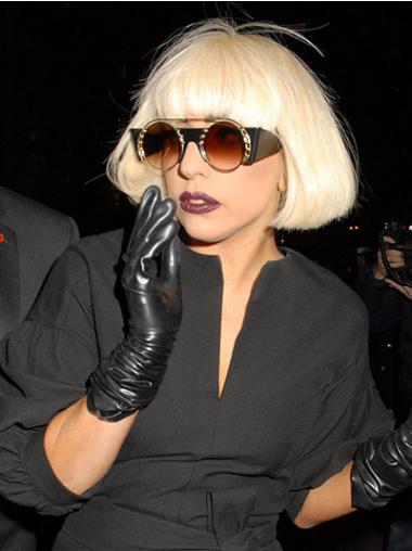 Straight Blonde Bobs Amazing Lady Gaga wigs