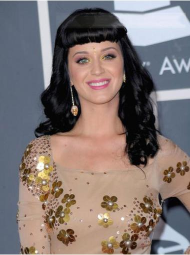 Black With Bangs Wavy Soft Katy Perry wigs