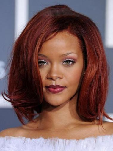 Red Lace Front Straight Beautiful Rihanna wigs