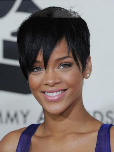 Black Boycuts Straight Top Rihanna wigs