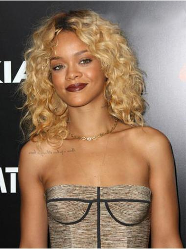 Blonde Afro Curly New Rihanna wigs