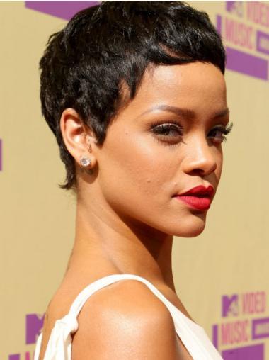 Black Boycuts Straight Trendy Rihanna wigs