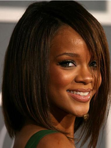 Bobs Straight Brown Designed Rihanna wigs