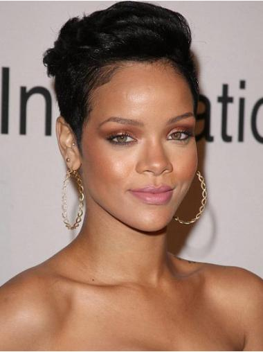 Straight Boycuts Black Fabulous Rihanna wigs