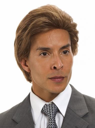 Brown Remy Human Hair Gorgeous Men Wigs