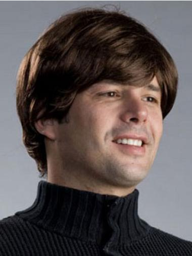 Straight Brown Fashion Men Wigs