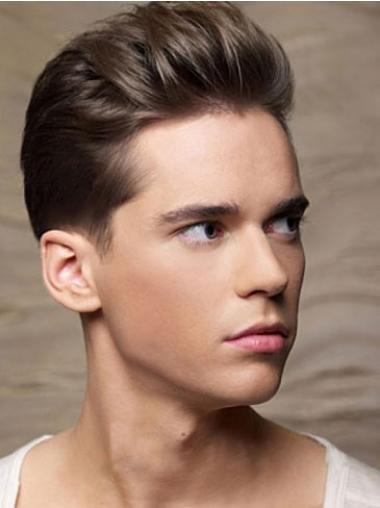 Remy Human Hair Brown Amazing Men Wigs