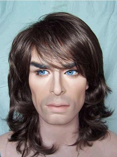 Wavy Brown Discount Men Wigs
