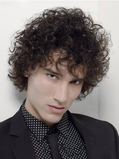 Black Curly Perfect Men Wigs