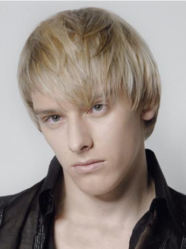 Straight Blonde Cheapest Men Wigs
