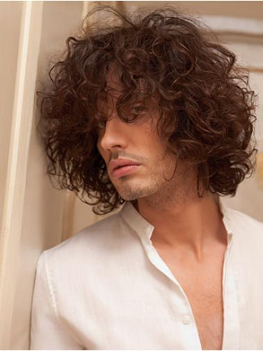 Auburn Curly Perfect Men Wigs
