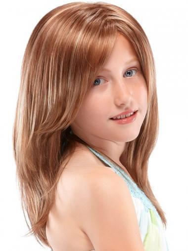 Auburn Layered Straight Trendy Kids Wigs