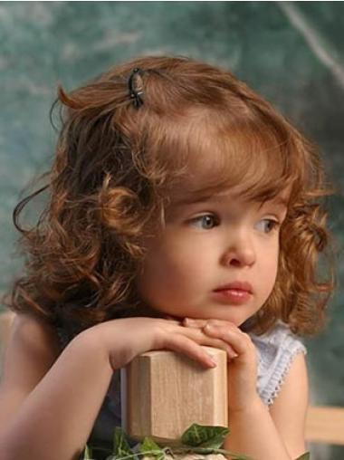 Lace Front Auburn Curly Hairstyles Kids Wigs