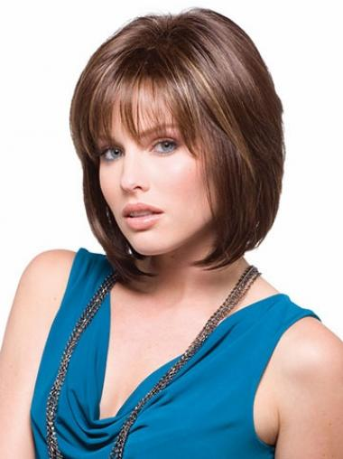 Synthetic Straight Convenient Bob Wigs