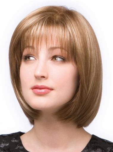 Brown Bobs Synthetic Durable Medium Wigs