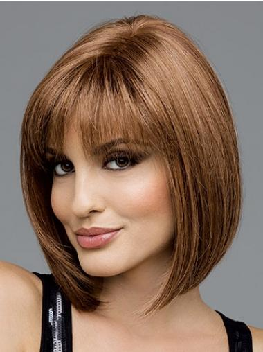 Brown Bobs Synthetic Hairstyles Medium Wigs
