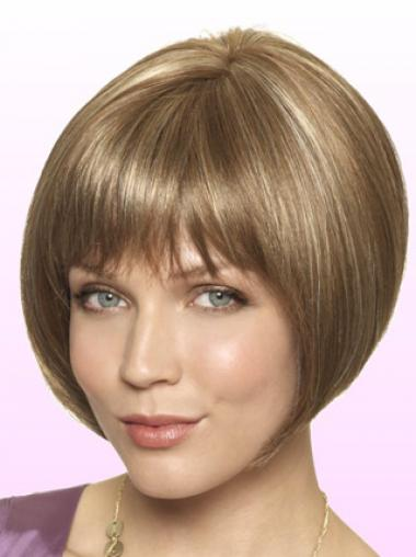 Straight Blonde Bobs High Quality Short Wigs