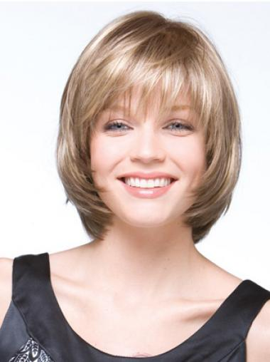 Blonde Synthetic Exquisite Bob Wigs