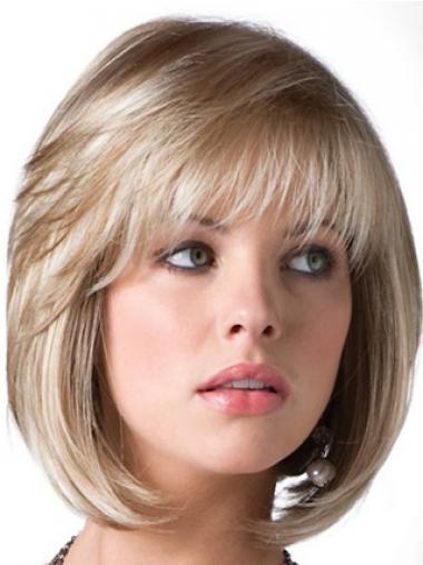 Blonde Synthetic No-fuss Bob Wigs